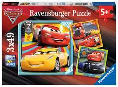 Disney Pixar Cars 3, 3 x 49pc - Billede 1 - Klik for at zoome