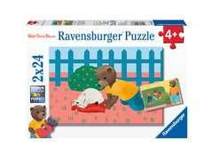 Puzzles 2x24 p - Petit Ours Brun à la maison - Image 1 - Cliquer pour agrandir