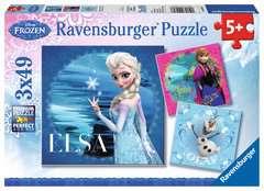Puzzles 3x49 p - Elsa, Anna & Olaf / Disney La Reine des Neiges - Image 1 - Cliquer pour agrandir