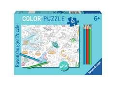 Color'puzzle 80 p - Le monde sous l'eau / OMY - Image 1 - Cliquer pour agrandir