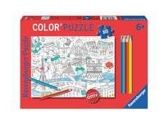 Color'puzzle 80 p - En ville / OMY - Image 1 - Cliquer pour agrandir