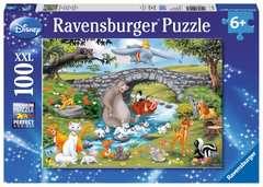 Puzzle 100 p XXL - La famille d'Animal Friends / Disney - Image 1 - Cliquer pour agrandir