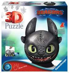 Dragons 3 Toothless 3D Puzzle, 72 pc - Billede 1 - Klik for at zoome