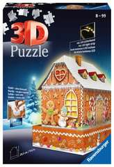 Ravensburger Christmas Gingerbread House Night Edition 216 piece 3D Jigsaw Puzzle with LED lighting for Kids age 8 years and up - image 1 - Click to Zoom
