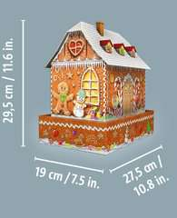 Ravensburger Christmas Gingerbread House Night Edition 216 piece 3D Jigsaw Puzzle with LED lighting for Kids age 8 years and up - image 6 - Click to Zoom