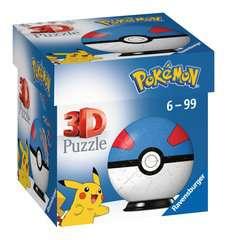 Puzzles 3D Ball 54 p - Super Ball / Pokémon - Image 1 - Cliquer pour agrandir