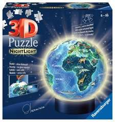 Earth by Night, 72pcs 3D Nightlight Jigsaw Puzzle - Billede 1 - Klik for at zoome
