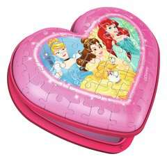Disney Princess Heart Shaped 3D Puzzle, 54pc - image 2 - Click to Zoom