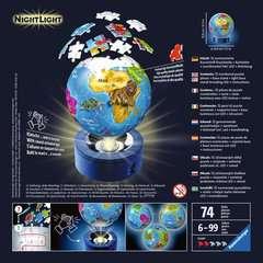 Puzzle 3D rond 72 p illuminé - Globe - Image 2 - Cliquer pour agrandir