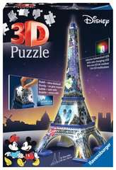 Eiffel Tower Disney at night Paris  3D Puzzle, 216pc - Billede 1 - Klik for at zoome