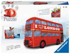 London Bus 3D Puzzle, 216pc - image 1 - Click to Zoom