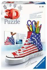 American Flag Sneaker 3D Puzzle®, 108pc - image 1 - Click to Zoom