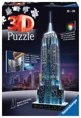 Empire State Building at Night, 3D Puzzle - Billede 1 - Klik for at zoome