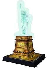 Statue of Liberty 3D Puzzle®, Night Edition - Billede 3 - Klik for at zoome