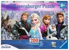 Puzzle 200 p XXL - Arendelle sous neiges éternelles / Disney La Reine des Neiges - Image 1 - Cliquer pour agrandir