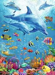 Pod of Dolphins XXL 100pc - image 2 - Click to Zoom