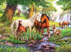 Horses by the Stream - image 2 - Click to Zoom