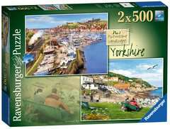 Picturesque Yorkshire 2x500pc (Whitby & Runswick Bay) - image 1 - Click to Zoom