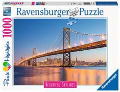 Beautiful Skylines - Oakland Bay Bridge, 1000pc - Billede 1 - Klik for at zoome