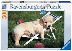Puzzle 500 p - Golden Retriever - Image 1 - Cliquer pour agrandir