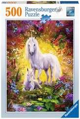 Puzzle 500 p - La licorne et son poulain - Image 1 - Cliquer pour agrandir