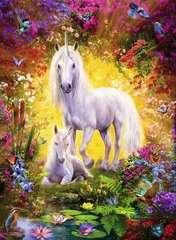 Puzzle 500 p - La licorne et son poulain - Image 2 - Cliquer pour agrandir