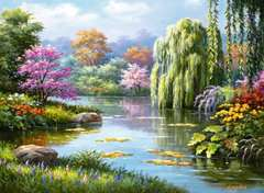 Romantic Pond View, 500pc - image 2 - Click to Zoom