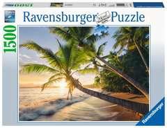 Puzzle 1500 p - Plage secrète - Image 1 - Cliquer pour agrandir