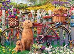 Cute Dogs in the Garden, 500pc - image 2 - Click to Zoom