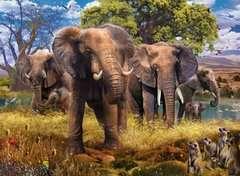 Puzzle 500 p - Famille d'éléphants - Image 2 - Cliquer pour agrandir