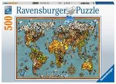 Puzzle 500 p - Mappemonde de papillons - Image 1 - Cliquer pour agrandir