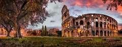 Puzzle Panoramiczne 1000 elementów: Koloseum o zmierzchu - Zdjęcie 2 - Kliknij aby przybliżyć