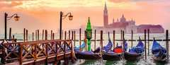 Gondolas in Venice Panoramic, 1000pc - Billede 2 - Klik for at zoome