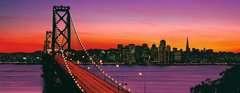 San Francisco, Oakland Bay Bridge bei Nacht - Bild 2 - Klicken zum Vergößern