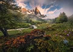 Schilderachtige sfeer in Vallée de la Clarée, Franse Alpen - image 2 - Click to Zoom