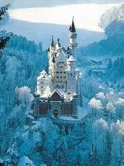 Puzzle 1500 p - Neuschwanstein en hiver - Image 2 - Cliquer pour agrandir