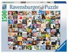 Puzzle 1500 p - 99 chats - Image 1 - Cliquer pour agrandir