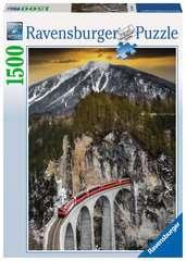 Puzzle 1500 p - Montagne hivernale - Image 1 - Cliquer pour agrandir