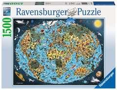 Puzzle 1500 p - Mappemonde colorée - Image 1 - Cliquer pour agrandir