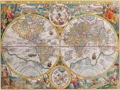 Puzzle 1500 p - Mappemonde 1594 - Image 2 - Cliquer pour agrandir