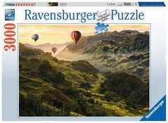 Puzzle 3000 p - Terrasses de riz en Asie - Image 1 - Cliquer pour agrandir