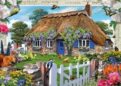 Country Cottage Collection, Wisteria Cottage, 1000pc - image 2 - Click to Zoom