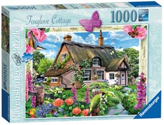 Country Cottage Collection - Foxglove Cottage, 1000pc - image 1 - Click to Zoom