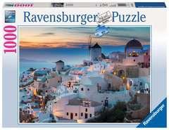Puzzle 1000 p - Santorin - Image 1 - Cliquer pour agrandir
