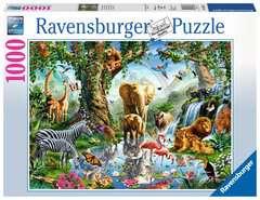 Puzzle 1000 p - Aventures dans la jungle - Image 1 - Cliquer pour agrandir