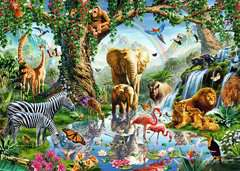 Puzzle 1000 p - Aventures dans la jungle - Image 2 - Cliquer pour agrandir