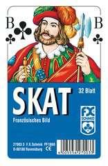 Klassisches Skatspiel, Französisches Bild, 32 Karten in Klarsicht-Box - Bild 1 - Klicken zum Vergößern