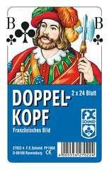 Doppelkopf, Französisches Bild, in Klarsicht-Box - Bild 1 - Klicken zum Vergößern
