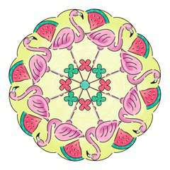 Mandala  - midi - Flamingo - Image 3 - Cliquer pour agrandir