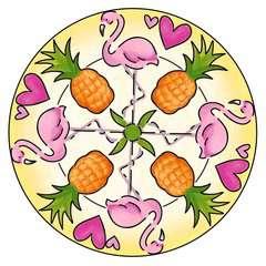 Mandala - mini - Flamingo - Image 4 - Cliquer pour agrandir